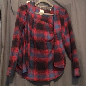 American Eagle flannel with hoodie